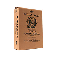 Indian  Head White Cornmeal 5lb